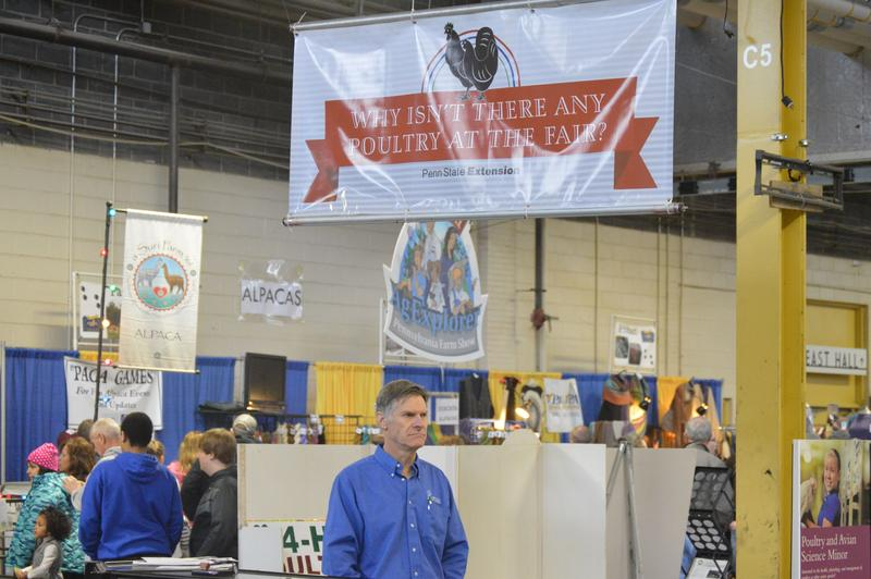 Poultry specialist Paul Patterson at the 100th Pennsylvania Farm Show in Harrisburg, Pa.