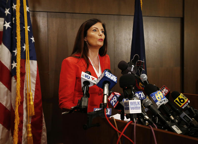 Kathleen Kane at podium