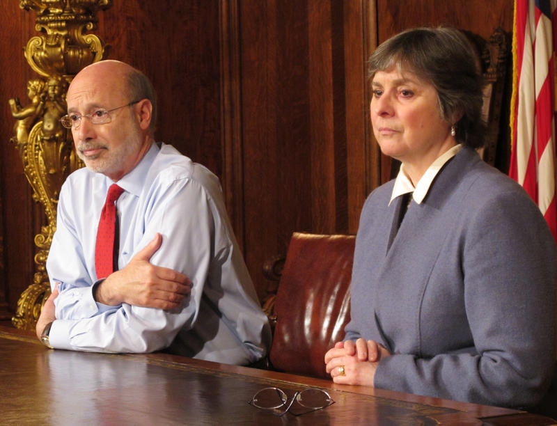 Pennsylvania Gov. Tom Wolf and his wife, Frances