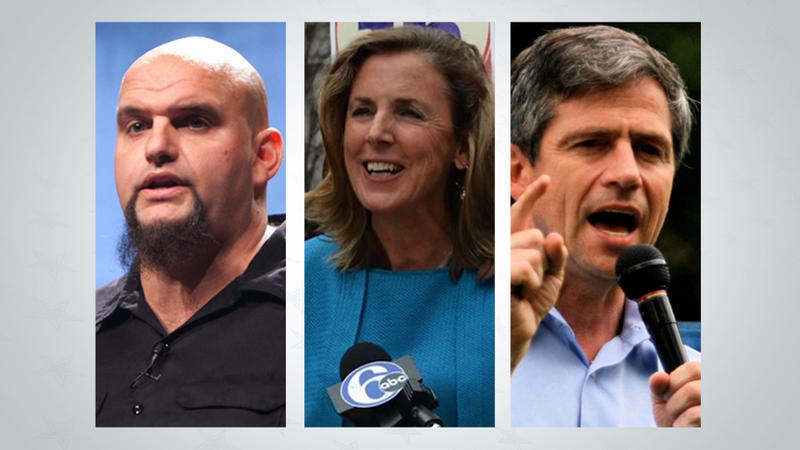 John Fetterman, Katie McGinty and Joe Sestak.