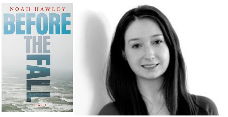 "Left: the cover of ""Before the Fall."" Right: Erin Cassidy Hendrick"