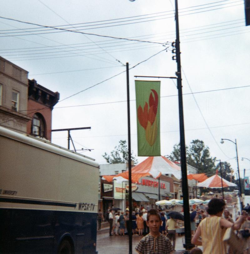 The WPSX-TV (now WPSU-TV) remote truck at Arts Festival, 1967.