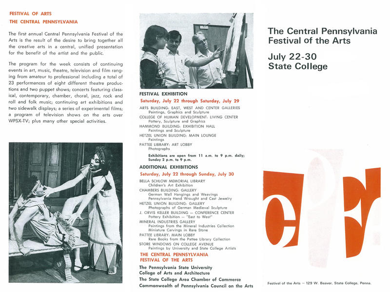 1967 Arts Festival Program, page 1