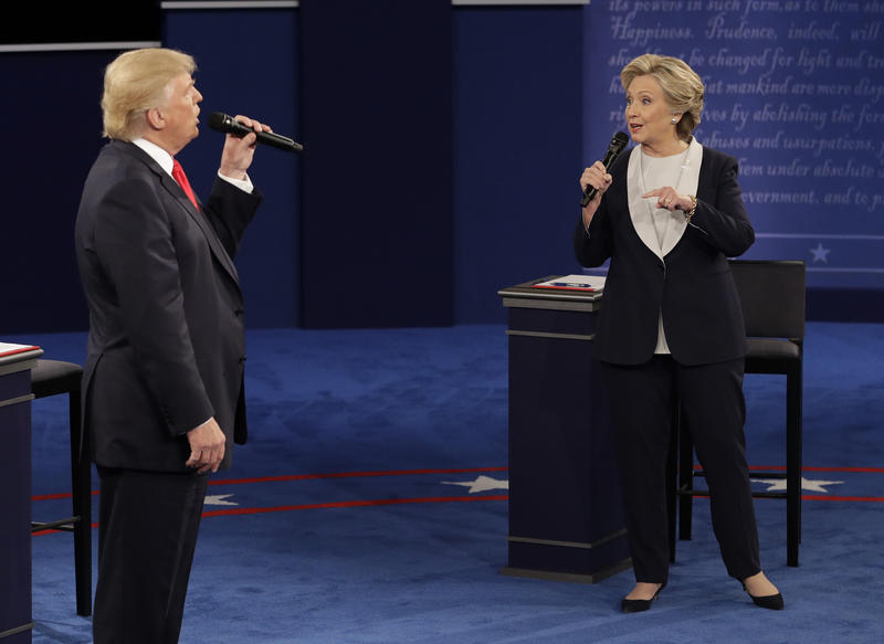 Donald Trump and Hillary Clinton at second debate