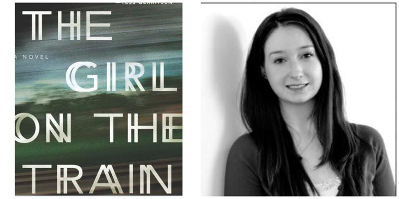 "The cover of ""The Girl on the Train"" and reviewer Erin Cassidy Hendrick."