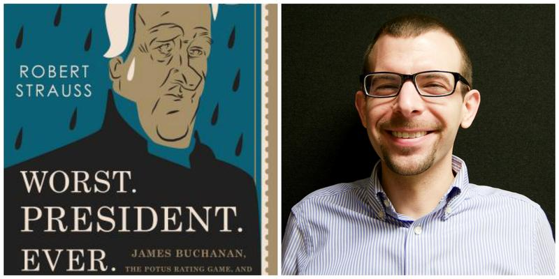 """Worst. President. Ever."" book cover and Brady Clemens"
