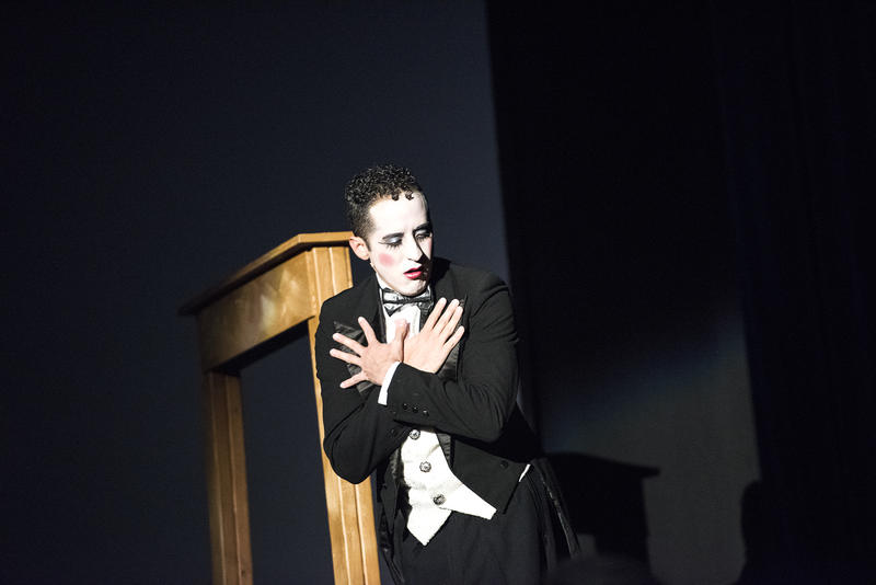 "Seth Tucker as the Emcee in ""Cabaret."""