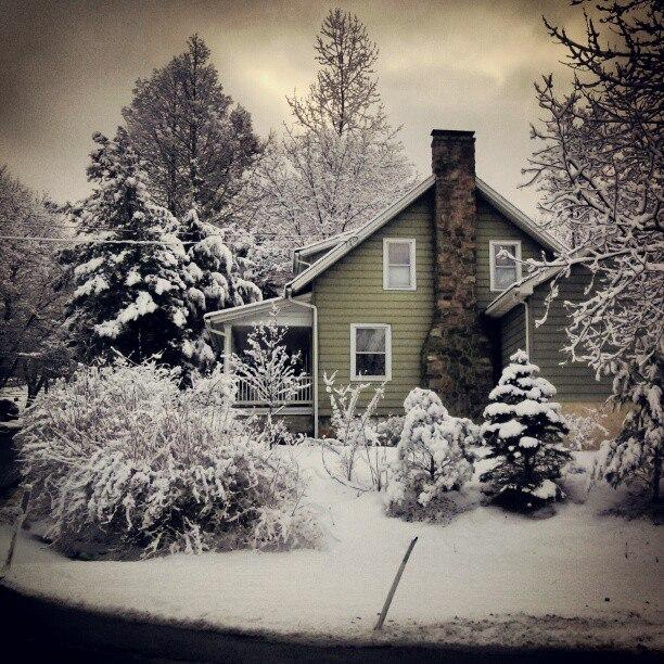 Emily Reddy's house in snow