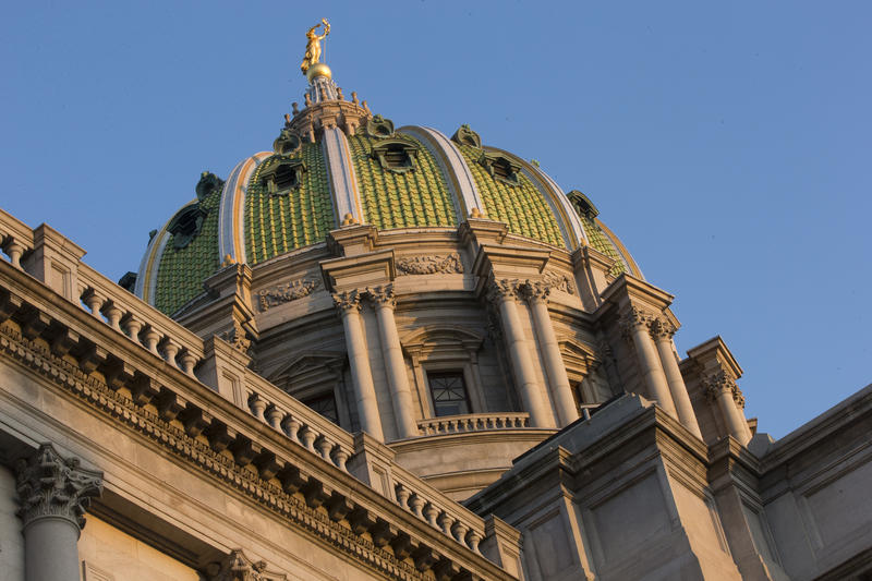 Harrisburg Capitol building.