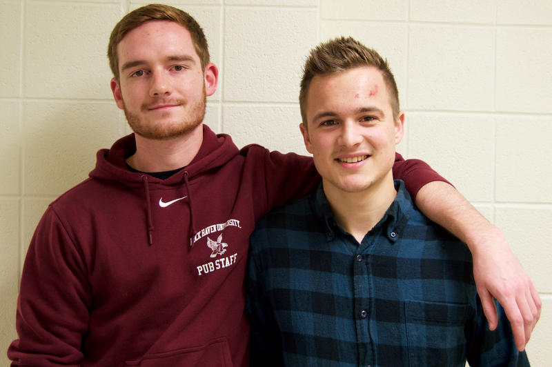Lock Haven University students James Harkness and Steven Pasciak.