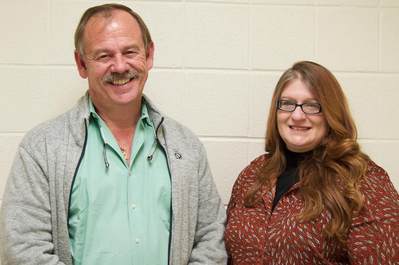 Lock Haven University professor Walter Eisenhauer and assistant professor Pam Ruane.