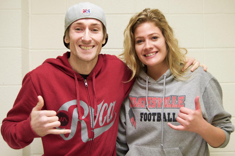Ryan Brinkman and Lock Haven University student Samantha Wilson.