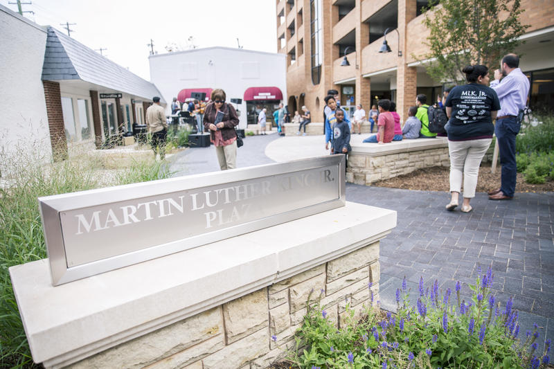 The Martin Luther King Jr. Plaza opened on Fraser Street in downtown State College on August 28, 2017. It is designed to be a gathering space for the community dedicated to Dr. King's legacy.