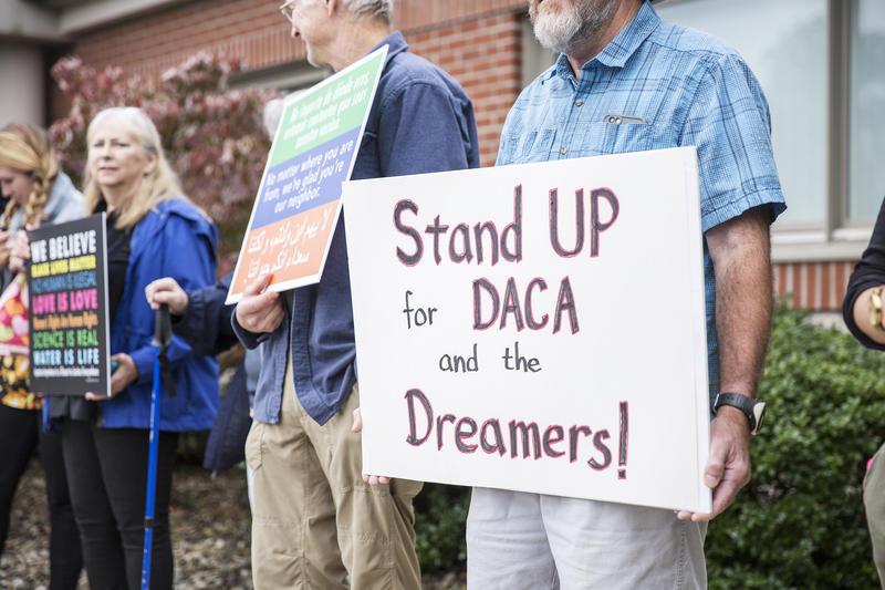 Protestors stood in solidarity with DACA.