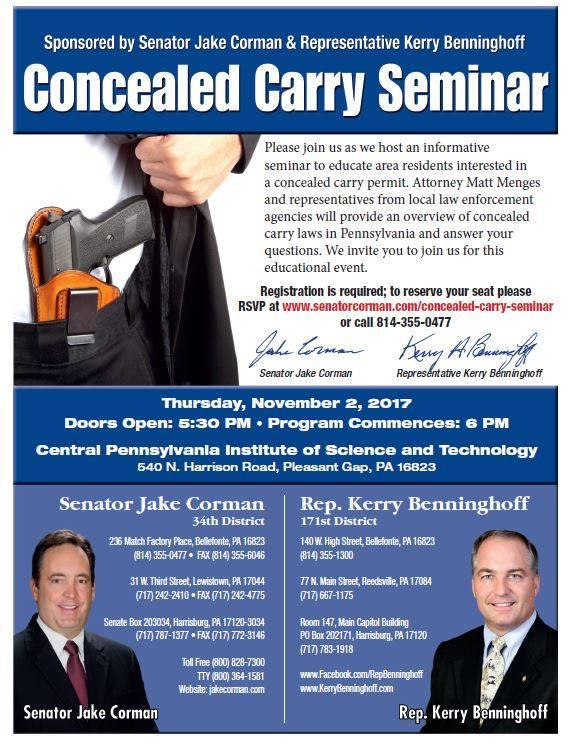 Concealed Carry flier