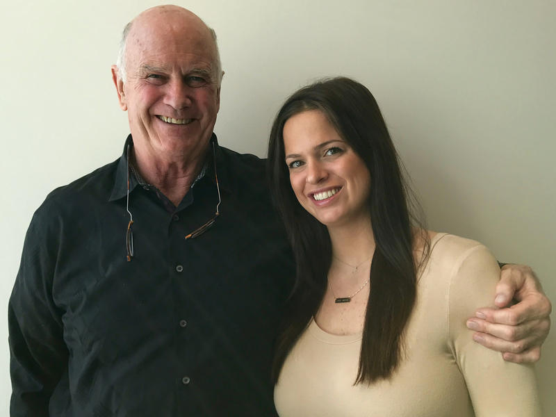 Bruce Heim and his granddaughter Susan Patterson.