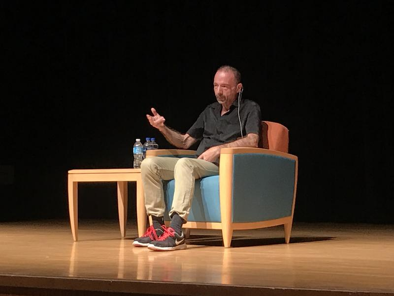 Timothy Ray Brown speaks to students and community members about his life experiences.