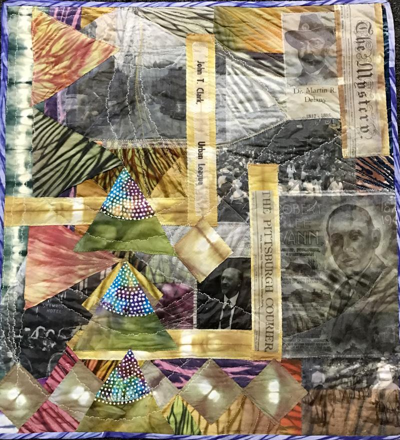 A story quilt by Tina Williams Brewer from the