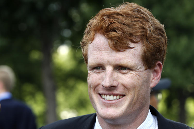 Rep. Joe Kennedy, D-Mass., smiles on Capitol Hill in Washington, Wednesday, July 26, 2017.
