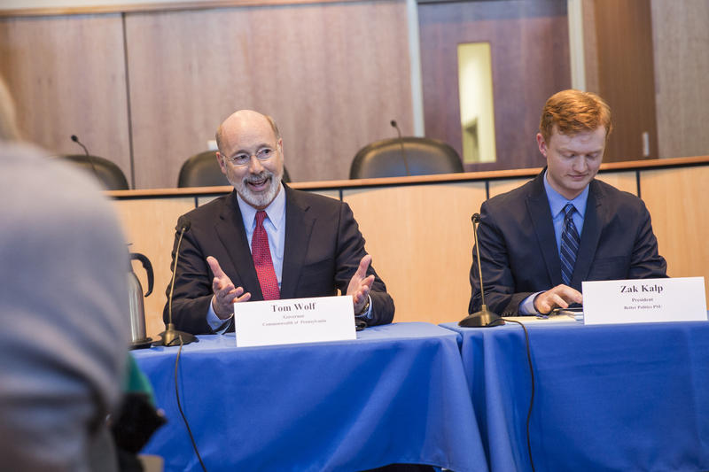 Governor Wolf joined a panel discussion to hear State College residents' feedback on redistricting.