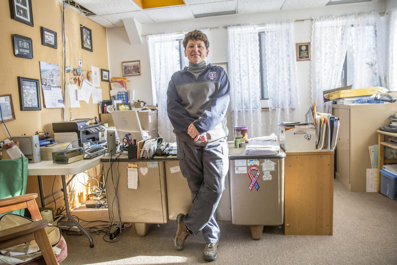 Snowshoe EMS chief Sharon Nilson in her office.