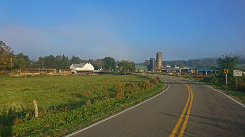 Farmland on the road that runs between Titusville and Corry School Districts.
