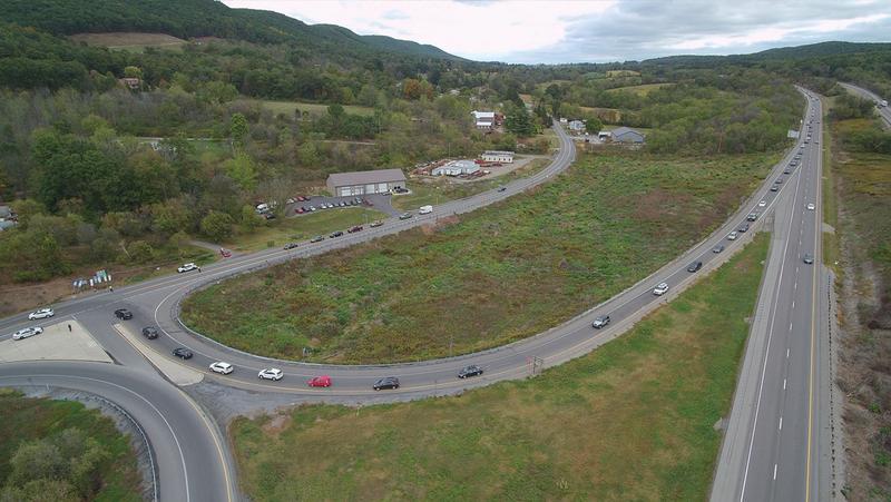 I-99 and I-80 interchange