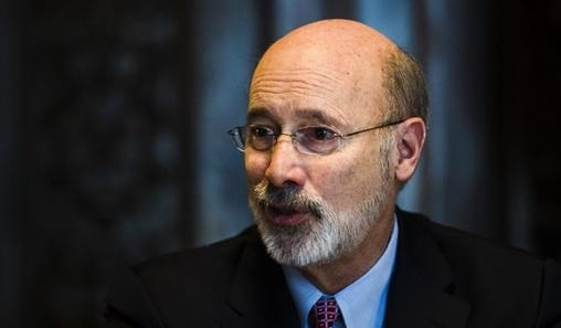In this Tuesday, Jan. 2, 2018 photo, Pennsylvania Gov. Tom Wolf speaks during an interview with The Associated Press at his office in Harrisburg, Pa.