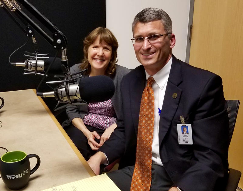 Penn State Child Study Center director Karen Bierman and SCASD superintendent Bob O'Donnell.