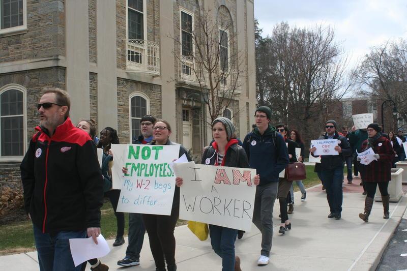 Grad student rally