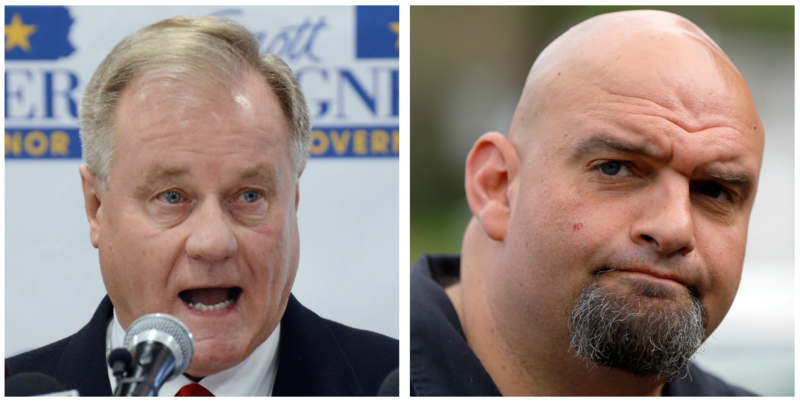 Republican gubernatorial primary winner, Scott Wagner, and Democratic lt. governor winner, John Fetterman.