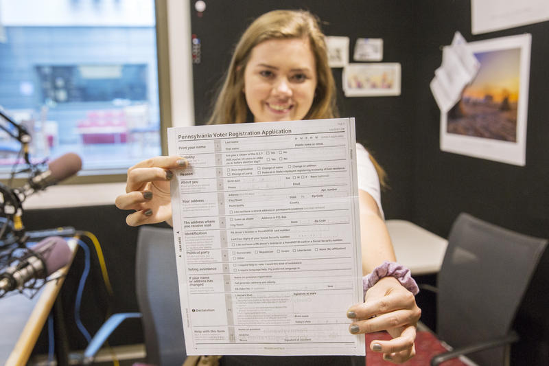 Tara Hutchingame is a senior at State College Area High School. For the last few months, she has dedicated a lot of energy to helping her fellow students register to vote.