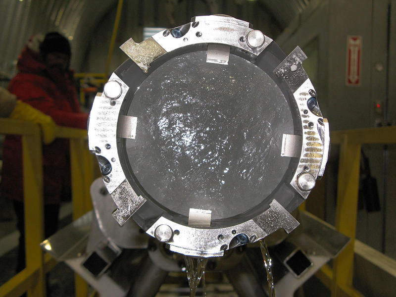 Ice Core in barrel, WAIS Divide Ice Corp Project.