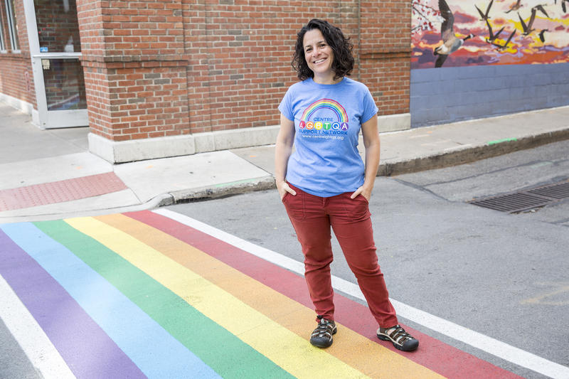 Tamar London, chair of the Centre LGBTQ Support Network, said the rainbow crosswalks meant a tremendous amount.