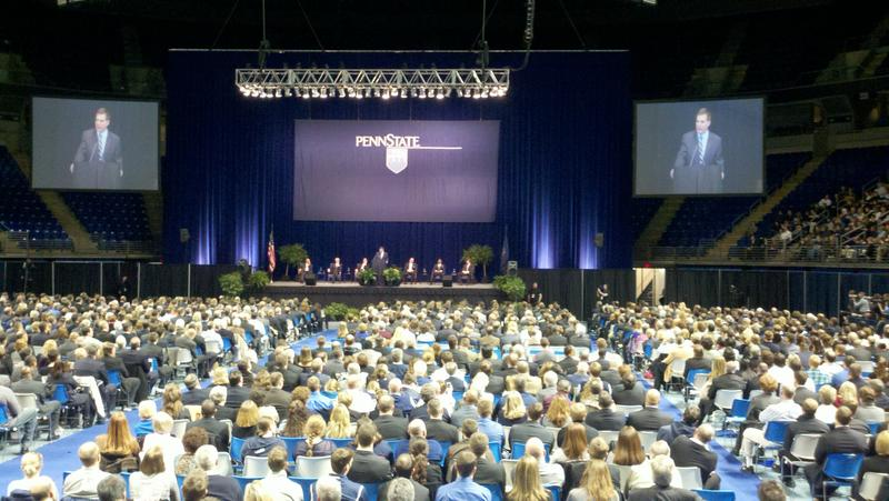 The memorial for Joe Paterno took place in Penn State's Bryce Jordan Center.