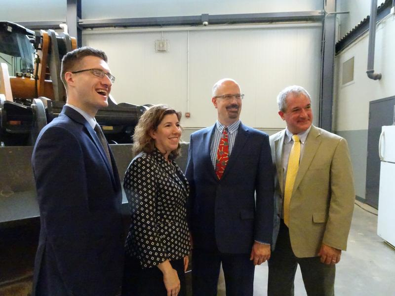 County leaders stand with PennDOT secretary