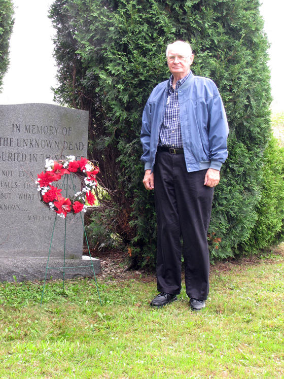 Chuck Felton at Union Cemetery, where many of the Cresson Sanatorium patients who died of TB were buried.