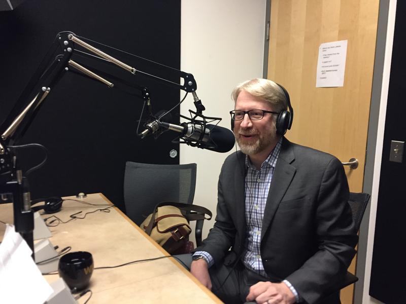 Brian Southwell in radio studio