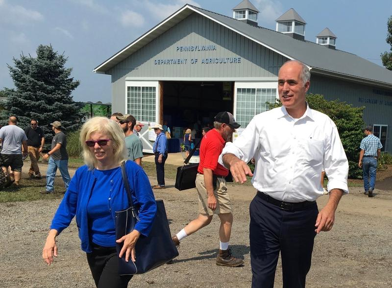 U.S. Senator Bob Casey arriving at Ag Progress Days