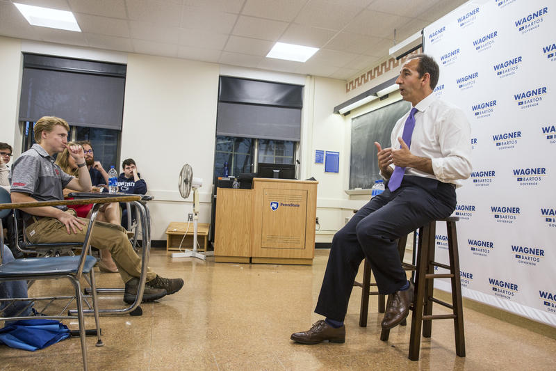 The Republican nominee for Pennsylvania's lieutenant governor, Jeff Bartos, held a town hall at Penn State on Monday.