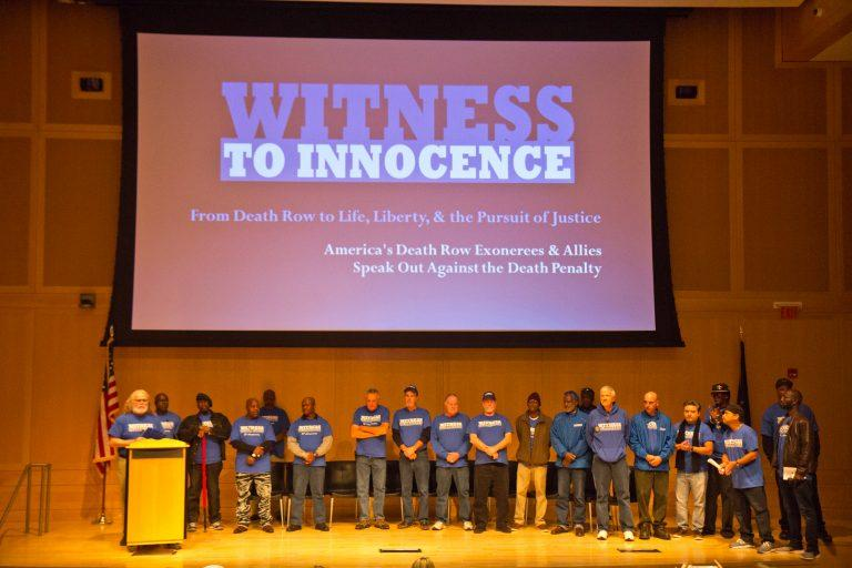 At the National Constitution Center in Philadelphia Thursday, the national anti-death penalty organization Witness to Innocence calls for Pennsylvania to abolish the death penalty.