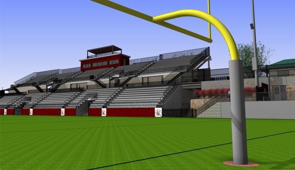 Rendering of renovated Memorial Field
