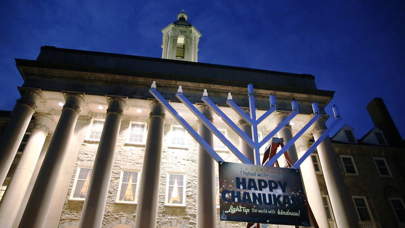 Chabad of Penn State hosted the university's 18th annual menorah lighting on the University Park campus on Wednesday.