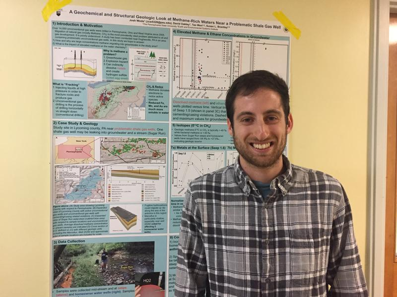 Josh Woda helped lead the study into methane contamination linked to fracking.
