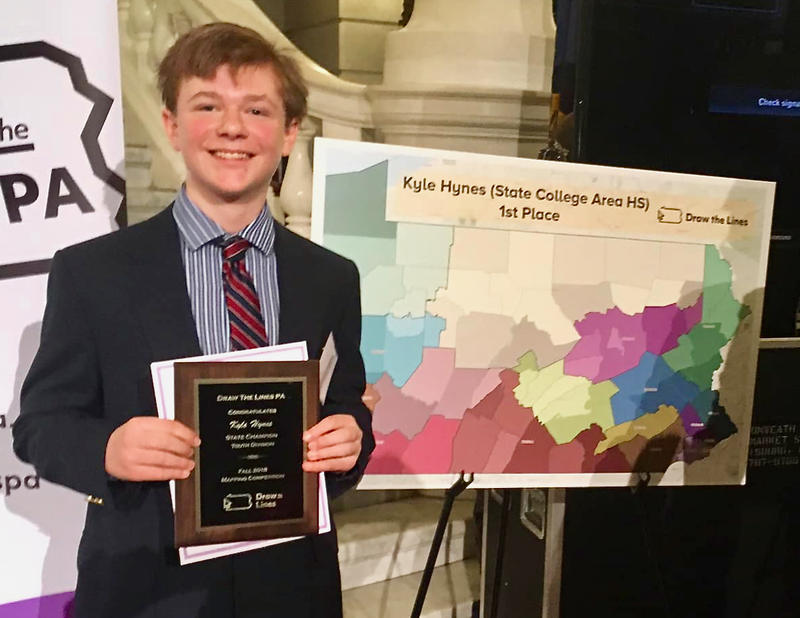 Kyle Hynes of State College won first place in the central region's youth division.