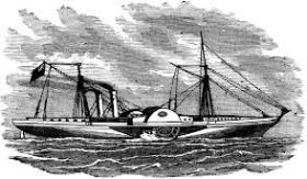 Drawing of a Confederate blockade runner