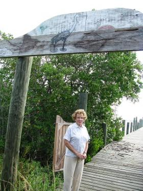 Toni Robinson at riverfront trail that bears her name