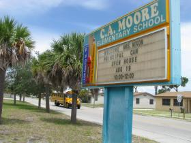 This elementary school in Fort Pierce is named in honor of C.A. Moore.
