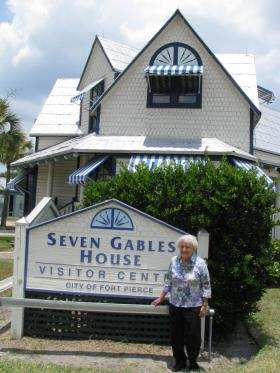 Elodie McCready, seen here, her parents and eight siblings grew up in this house that her father bought for $10 in 1930.