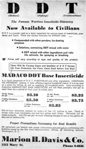 Postwar ad in Tallahassee Democrat